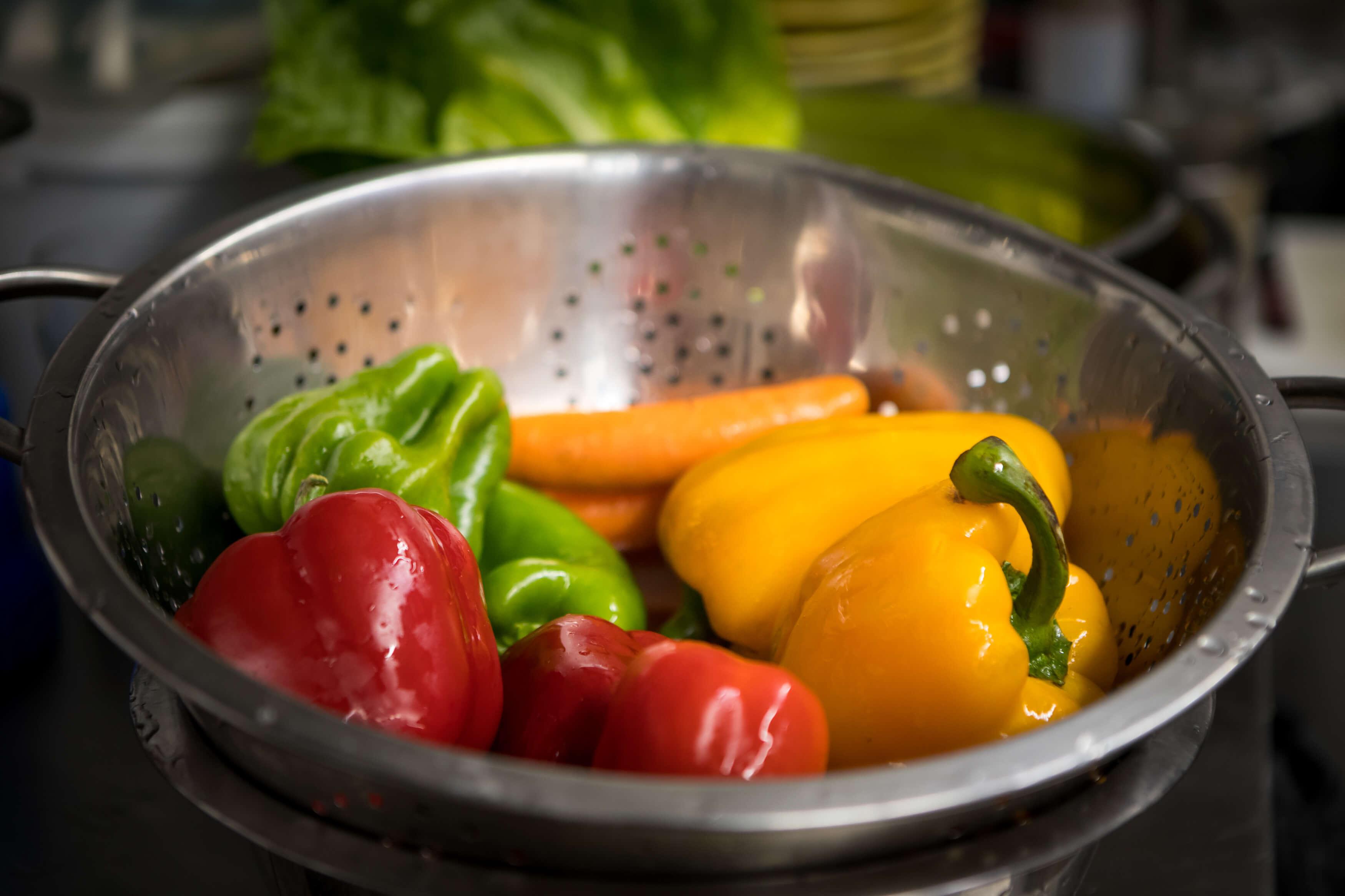 χρωματιστές πιπεριές